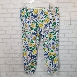 Liz Claiborne floral print pants size 18
